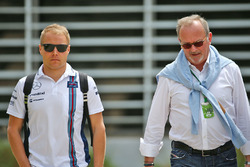 Valtteri Bottas, Williams with Didier Coton, Driver Manager