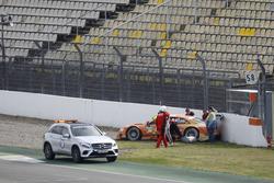 Crash: Jamie Green, Audi Sport Team Rosberg, Audi RS5 DTM