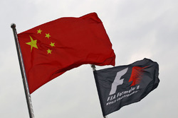 Chinese and F1 flags