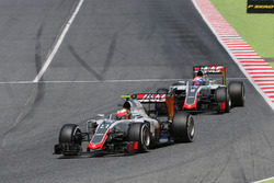 Esteban Gutierrez, Haas F1 Team und Romain Grosjean, Haas F1 Team