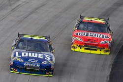 Jimmie Johnson, Hendrick Motorsports Chevrolet and Jeff Gordon, Hendrick Motorsports Chevrolet