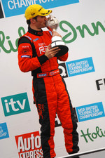 Colin Turkington with championship trophy