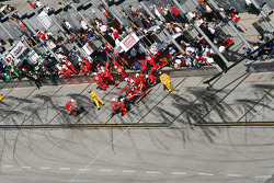 Pit stop for Scott Dixon, Chip Ganassi Racing