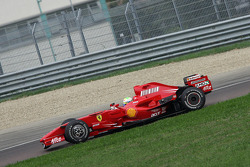 First roll out of Felipe Massa, Scuderia Ferrari in a privately-owned two-year-old F2007 with slick GP2-spec tyres