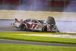 Ricky Stenhouse Jr. crashes