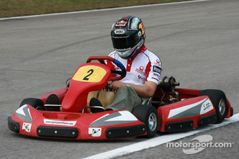 Go-kart event: Mika Kallio
