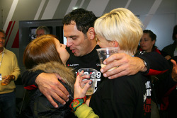 Hans-Jurgen Abt, Teamchef Abt-Audi with his wife and daughter