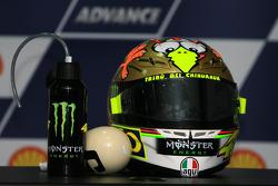 Post-race press conference: helmet of  Valentino Rossi, Fiat Yamaha Team