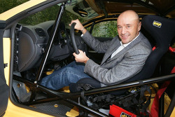 Ski racer Christian Neureuther promotes the VW Scirocco Cup 2010
