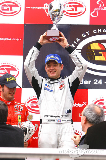 GT2 podium: class winner and FIA-GT GT2 champion Richard Westbrook