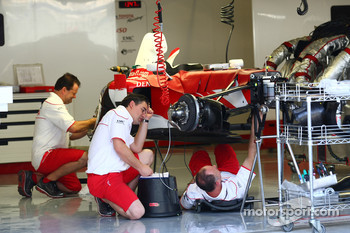 Toyota Mechanics working on their car