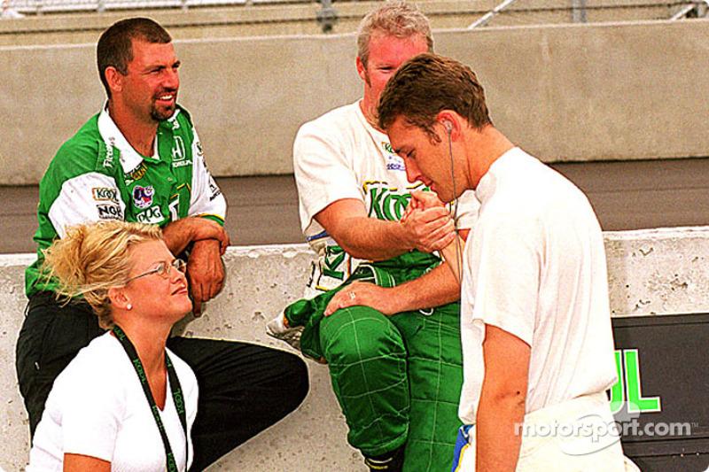 Greg Moore, Liisa Tracy and Paul Tracy