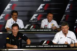 Christian Horner, Red Bull Racing, Sporting Director, Dr. Mario Theissen, BMW Sauber F1 Team, BMW Motorsport Director, Bob Bell, Renault F1 Team, Team's managing director, Ross Brawn Team Principal, Brawn GP