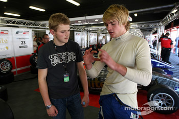 Richard Plant 2009 Formula Palmer Audi Champion talks with Jack Clarke
