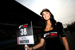Grid girl for Tristan Vautier
