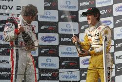 Race winner Andy Soucek and Tristan Vautier on the podium