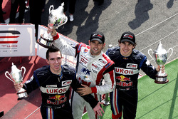 Mikhail Aleshin, Andy Soucek and Robert Wickens