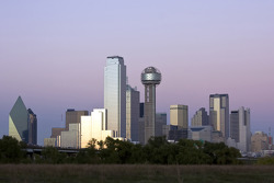 A view of Dallas skyline