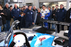 French Prime Minister François Fillion drives the Peugeot 908 HDi FAP, winner of the last 24 Hours of Le Mans