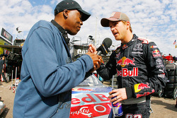Scott Speed, Red Bull Racing Team Toyota interviewed by Arsenio Hall for a segment for the Jay Leno Show