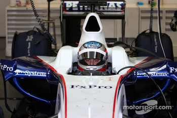 Bertrand Baguette Tests for the BMW Sauber F1 Team