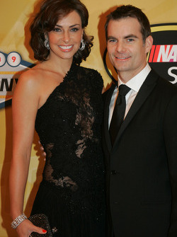 Jeff Gordon with his wife Ingrid Vandebosch