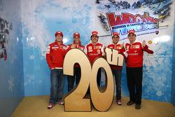 Nicky Hayden, Casey Stoner, Fernando Alonso, Felipe Massa and Giancarlo Fisichella