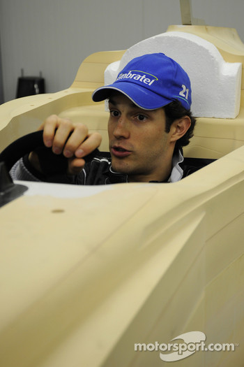 Bruno Senna tries the Campos Meta F1 Team car prototype