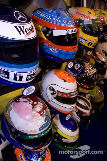 Drivers Crash helmet display