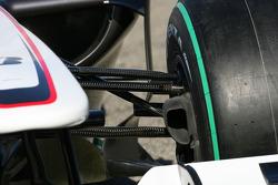 The new BMW Sauber C29, suspension detail