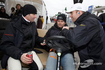 Romain Dumas, Bobby Labonte and Timo Bernhard