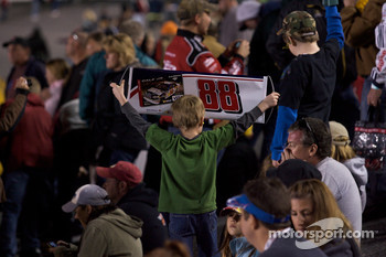 A young Dale Earnhardt Jr. fan