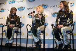 Miss Sprint Cup press conference: Miss Sprint Cup for 2010 Paige Duke, Amanda Wright and Monica Palumbo