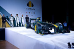 2010 Lotus F1 car with senior team members
