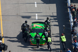Danica Patrick pushed to the garage