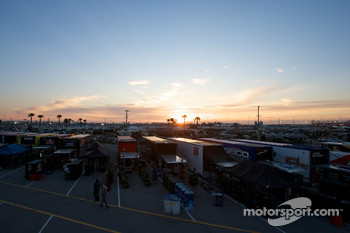 Sun rises on Daytona International Speedway