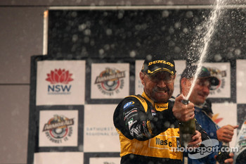 Podium: John Bowe celebrates