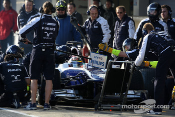 Nico Hulkenberg, Williams F1 Team, practice pitstops