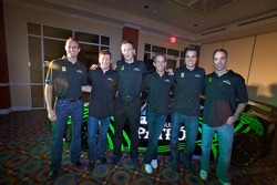 Tequila Patron announced as the presenting sponsor of the American Le Mans Series: Guy Cosmo, Scott Sharp, Johannes van Overbeek, Ed Brown, Dominik Farnbacher and Joao Barbosa