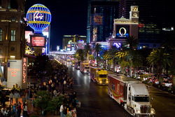 Haulers parade on the Las Vegas Strip