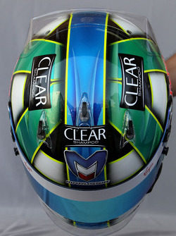 Helmet of Lucas di Grassi, Virgin Racing