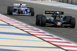 Mario Andretti, 1978 F1 World Champion drives the 1978 Lotus 79 and Damon Hill, 1996 F1 World Champion drives the 1996 Williams Renault FW18