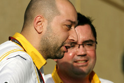 Gerard Lopez, Renault F1 Team owner and Eric Boullier, Team Principal, Renault F1 Team
