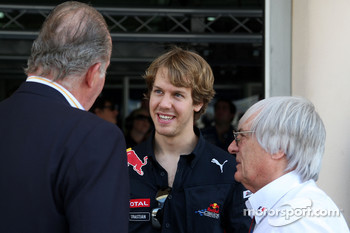 Juan Carlos I, King of Spain, Sebastian Vettel, Red Bull Racing, Bernie Ecclestone