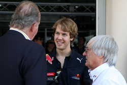 Juan Carlos I, King of Spain, Sebastian Vettel, Red Bull Racing, Bernie Ecclestone