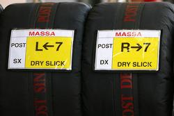 Felipe Massa, Scuderia Ferrari spare tyres