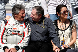 Mario Andretti, 1978 F1 World Champion, Jean Todt, FIA president, Michelle Yeoh, ex. James Bond girl, actor, Girlfriend of Jean Todt