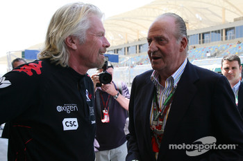 Sir Richard Branson, Chairman of the Virgin Group with the Kind Carlos of Spain