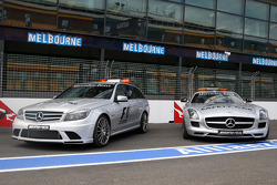 The medical car and the safety car