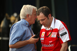 Charlie Whiting, FIA Safty delegate, Race director & offical starter, Stefano Domenicali Ferrari General Director